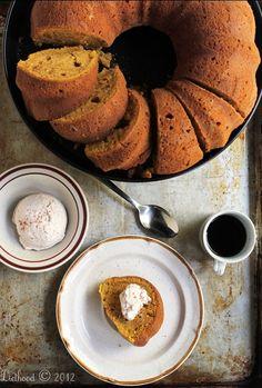Pumpkin Spice Latte Bundt Cake with Espresso Whipped Cream!!!!!