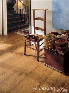 Laminate floors from Carpet One are great for high traffic areas of the home.
