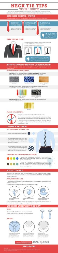 neck tie tips visual guide