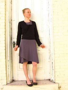 Clover Wrap Skirt and Humble Wrap Top, made to order in your color choice by Yana Dee.