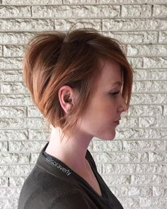Short Strawberry Blonde Bob
