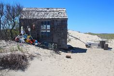 """The Harry Kemp Shack at Provincetown. ©Christopher Seufert Photography Prospective image from my upcoming hard cover photography book """"Dune Shack Life: Photos from the Cape Cod National Seashore. Surf Shack, Beach Shack, Little Gasparilla Island, Tiny House Blog, Cape Cod Beaches, Beach Cottage Style, Beach Cottages, Beach Houses, Nantucket"""