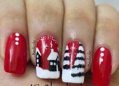 Christmas nail art #nails #nailart