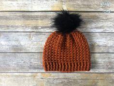 Autumn Crunch Hat a Free Crochet Pattern - ChristaCoDesign Scrap Yarn Crochet, One Skein Crochet, Easy Crochet Hat, Crochet Fall, Free Crochet, Crocheted Hats, Crochet Ideas, Crochet Projects, Crochet Gloves