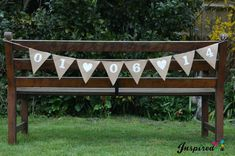 Hessian Save The Date Bunting Burlap Fabric Engaged Wedding Bride Hen BabyShower