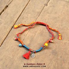 NEW • READY STOCK • SASKHARA ANKLET • Material : * Tibetan khamsa charm * Alloy bells * Japan sequins * Glass beads * Thread • All the rings and eye pins are made from stainless stell so it's safe for daily use • Shop : line : labdagatic Whatsapp : 088805534461 • WWW.LABDAGATIC.COM • #labdagatic #handmade #jewelry #accessories #bracelet #yogajewelry #brown #summer #jualgelang #popethnic #malang #localbrand #indonesia #gelangkaki #anklet #neon #tibetan #summer  #hippies #bohemian #unisex…