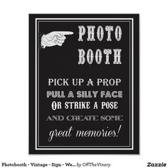 Photobooth - Vintage - Sign - Wedding - Party Poster