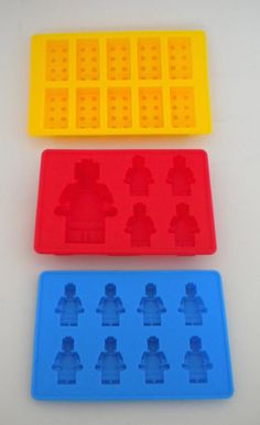 Set of 3 Lego Duplo Ice Candy Cookie Dog Treat Jello Soap Silicone Molds - Birthday Party