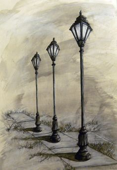 one point perspective lamp - Google Search