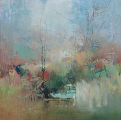 Painter's Process - Randall David Tipton      Fanno Creek Marsh oil on cradled panel 20x20