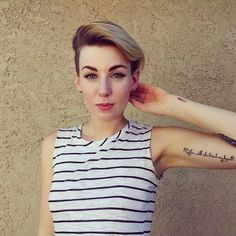 Adorable undercut! It can be cute or edgy, it's up to you.