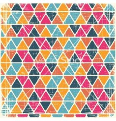 Free Vector | Retro seamless geometric pattern vector 969986 - by incomible on VectorStock®