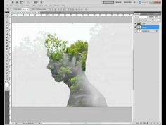How to make a double exposure in Photoshop. For digital imaging!