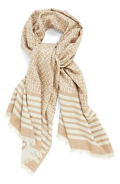 Tory Burch Logo Print Scarf available at #Nordstrom