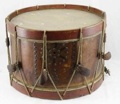 Antique Civil War Era Unmarked Rope Tension Snare Field Marching Drum | eBay
