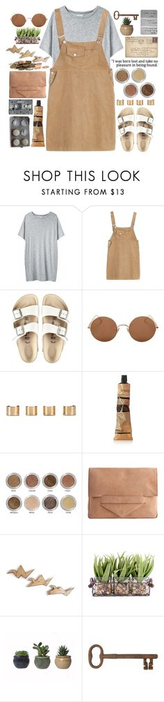 """""""I was born lost and take no pleasure in being found"""" by cjcstyle ❤ liked on Polyvore featuring Organic by John Patrick, Birkenstock, Sunday Somewhere, Maison Margiela, Aesop, CASSETTE, Alima, Pieces and Jayson Home"""