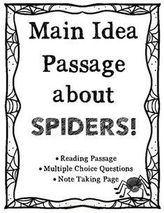 Main Idea Activities ~ FREE SAMPLE {Fall and Halloween