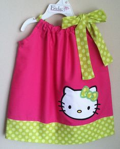 Super adorable Hello Kitty pillowcase dress by fridascloset1, $26.00