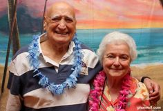 Reggie Gold and his wife Irene Gold at a Hawaiian themed party - August 2011  from planet1.com
