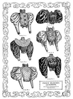 Advertisement for 1890s shirtwaists/ blouses