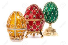 Faberge Egg. Isolated On White. Stock Photo, Picture And Royalty ...
