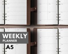 A5 Weekly Planner Printable, Filofax A5 insert, Filofax insert A5, Kikki K Large insert, Weekly A5 insert, Filofax Planner, Weekly printable