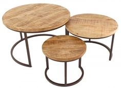 Trintage salontafel rond set van 3 € - Löwik Huiscollectie - Lilly is Love Casual Living Rooms, Home Living Room, Living Room Designs, Decorating Your Home, Interior Decorating, Metal Homes, Nesting Tables, Metal Furniture, Decoration