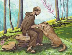 """""""If you have men who will exclude any of God's creatures from the shelter of compassion and pity, you will have men who will deal likewise with their fellow men."""" St Francis of Assisi St Francisco, Clare Of Assisi, Animals And Pets, Cute Animals, Nature Animals, St Clare's, Amor Animal, All Saints Day, Francis Of Assisi"""