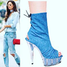 "Introducing Kitty Paws Shoes ""Shoesday Look Of The Day""! ORDER NOW: http://www.kittypawsshoes.com/shop/ankle-boots/denim-booties-2/  #women #shoes #ILoveShoes  #kittypawsshoes #followforfollow  #heels #pumps #online #shopping #womensupportwomen #freeshipping #boots #ankleboots #jcoulterj #kneehighboots #thighhighboots #dallas #miami #canada #atl #unitedstates #unitedkingdom #canada http://Instagram.com/KittyPawsShoes #snapchat:  jcoulterj💋 @sarasampaio Photo courtesy of #itsthemodeldiet"