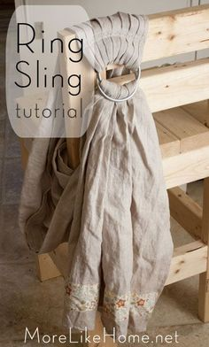 Baby-wearing Ring Sling Tutorial - More Like Home pretty neat. Might be worth a try. Baby Sewing Projects, Sewing For Kids, Do It Yourself Ring, Diy Ring Sling, How To Wear Rings, Baby Wraps, Everything Baby, Baby Wearing, Baby Items