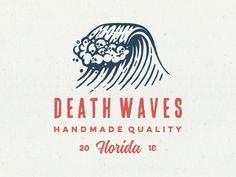 Death Waves by PrstiPerje Logo Inspiration, Logo Branding, Branding Design, Brand Identity Design, 3 Logo, Logo Marin, Typographie Logo, Surf Logo, Waves Logo