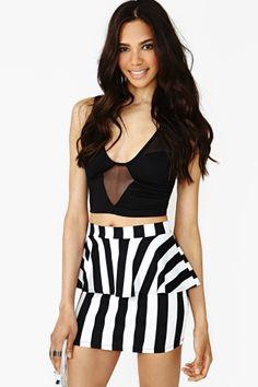 Linear Peplum Skirt