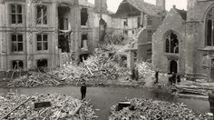 Reading Town Hall Square after the 10 February, 1943 bombing, knowing a place and seeing what it was like when it was bombed is still quite shocking READING 1943 from a single German Plane in WWII