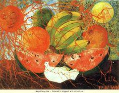 Frida Kahlo Still Life Paintings | Frida Kahlo. Fruit of Life - Olga's Gallery