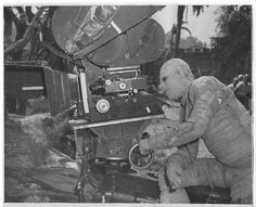 Lon Chaney, Jr. The picture was taken on the set of the film The Mummy's Curse (1944). Lon plays a role of a mummy in the film.