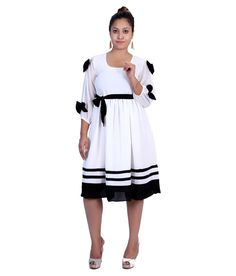 Iande Ghostwhite Georgette Dresses