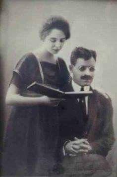 Taha Hussien & Wife Egyptain author