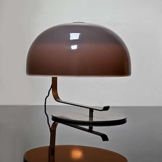 Rare Gray Model No. 275 Articulated Desk Lamp By Marco Zanuso   From a unique collection of antique and modern table lamps at https://www.1stdibs.com/furniture/lighting/table-lamps/