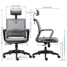 Desk Chairs Home Kitchen Heavy Duty Office Chair Executive Office Chair 130 Kg Breathable Adjustable Headrest And Armrest Intey Ergonomic Office Chair High Back Mesh Desk Chair Tilt Function Lumbar Support