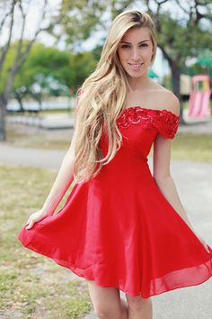 Vintage 1980's Red Sequin Evening Party Dress