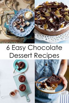 From Mary Berry's Baking Bible, here are six easy, indulgent chocolate desserts to round off a special meal, whether you're planning a luxurious feast for Valentine's Day or simply cooking for friends. Mary Berry Desserts, Easy Chocolate Desserts, Make Ahead Desserts, Chocolate Fondant, Chocolate Flavors, Chocolate Peanut Butter, No Bake Desserts, Dessert Recipes, Mary Berry Baking Bible