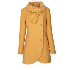 Hey, I found this really awesome Etsy listing at http://www.etsy.com/listing/125791745/ingenious-cape-yellow-wool-coat-cashmere