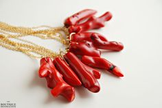 Coral branch necklace by BoutiqueMinimaliste on Etsy, $18.00
