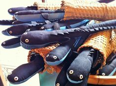 海の博物館オリジナルグッズ「うなぎのぬいぐるみ」駕籠は手作り!