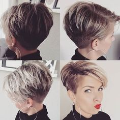 A strong charisma! These 10 cuts are full of POWER! – Ladies hairstyles A strong charisma! These 10 cuts are full of POWER! Hats For Short Hair, Funky Short Hair, Short Hair Cuts For Women, Short Hairstyles For Women, Ladies Hairstyles, Pixie Hairstyles, Cool Hairstyles, Pixie Haircuts, Pelo Pixie