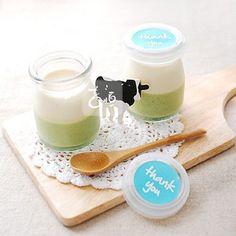 matcha & milk pudding