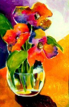 """Flowers in Jewels"" - Original Fine Art for Sale - © Laurie Mueller"