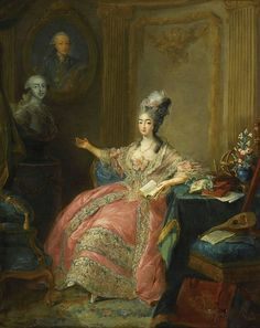 Marie-Joséphine of Savoy, Countess of Provence, by Jean-Baptiste Gautier d'Agoty, 1771, Châteaux de Versailless
