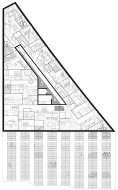 Plan Perspective for 40 Housing Units by LAN Architecture