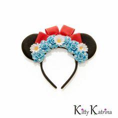 Classic Minnie Mouse Ears Headband, Disney Ears, Mouse Ears, Blue Minnie Mouse Ears, Disney Bound, Disney Headband, Disneyland, Disney World